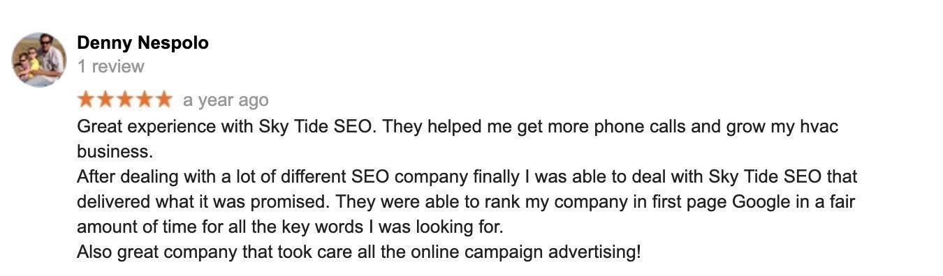 digital marketing client testimonial 2