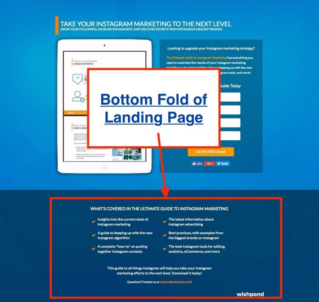 wishpond landing page example