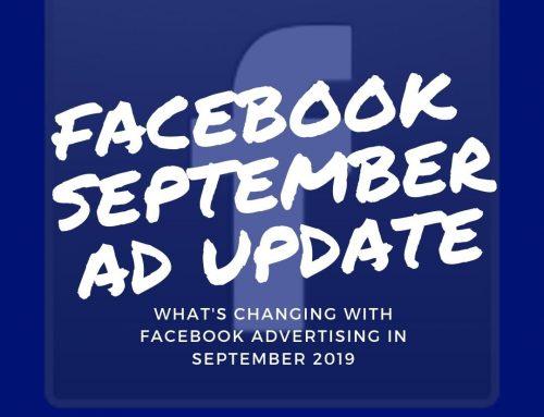 Facebook Update News Nov 2019 (Direct From FB Advertising Representative)
