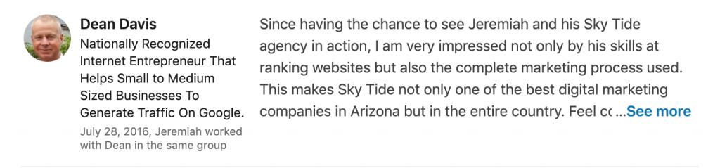 Sky Tide Digital Testimonial